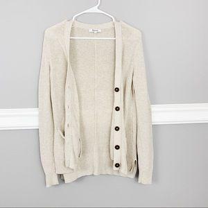 Madewell Button Cardigan Long Sleeve